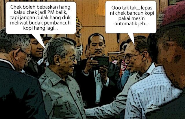 Sempat ke Mahathir tabal Anwar sebagai PM?