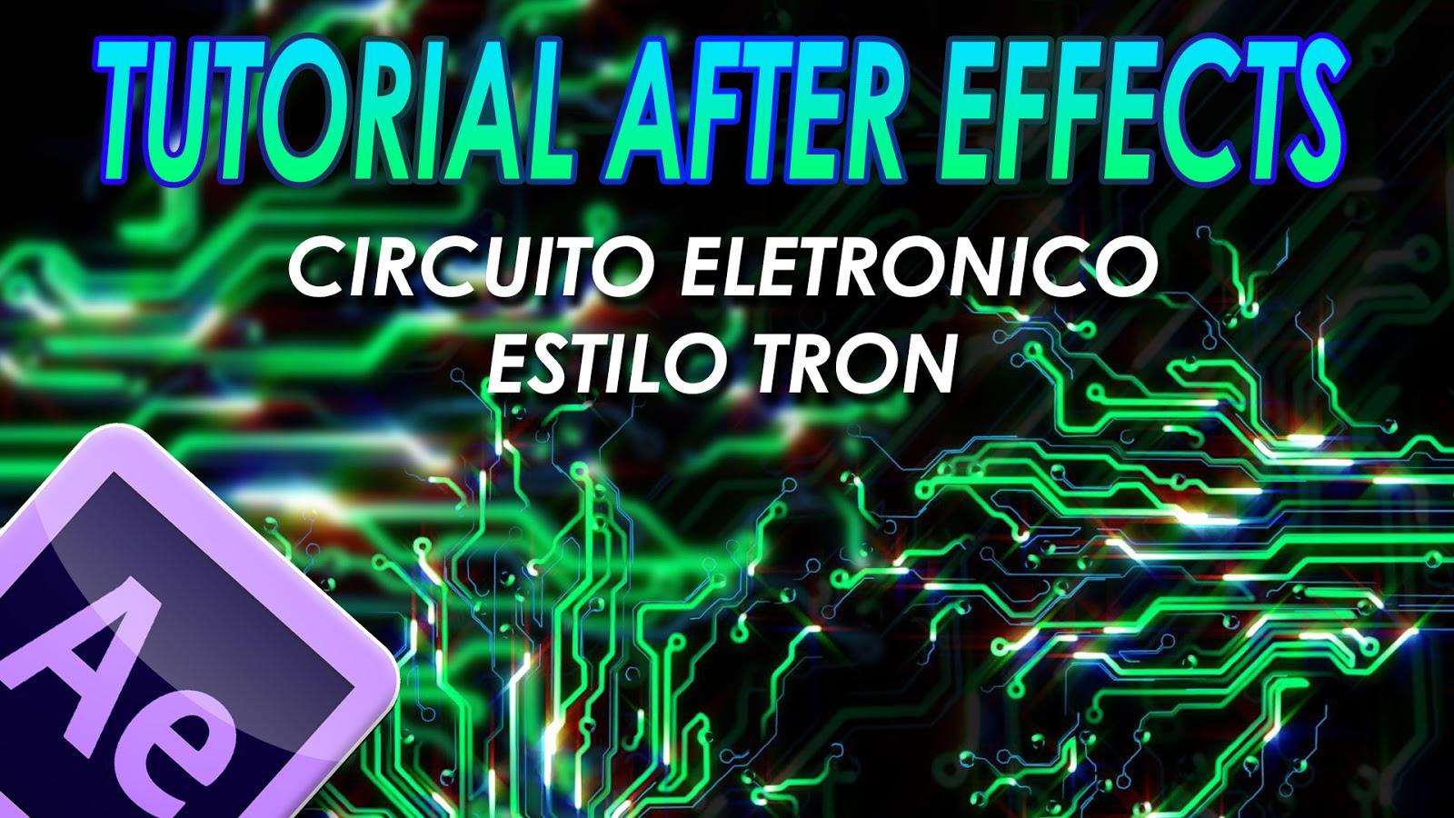 Circuito Electronico : Simply d tutoriales circuito electronico estilo tron en after effets