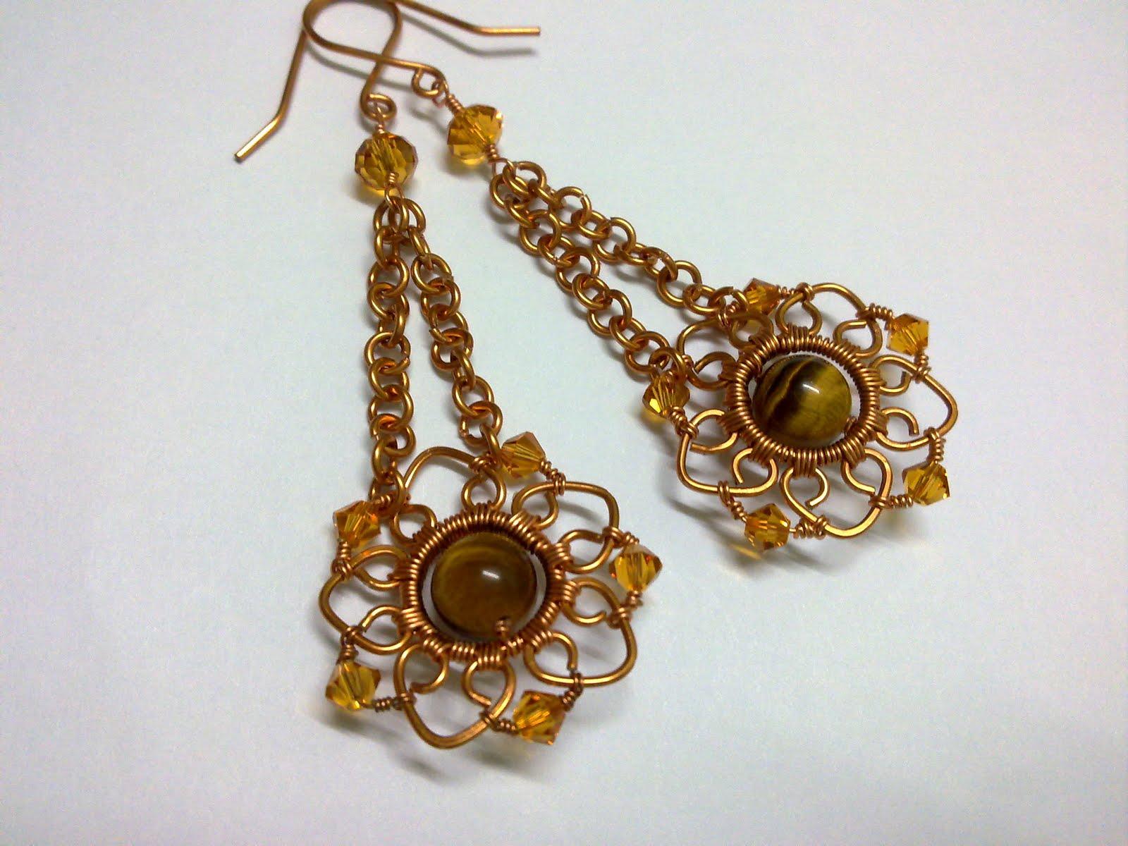 Handmade Wire Wred Jewelry Earrings Phalaenopsis Style 3 Customized Order