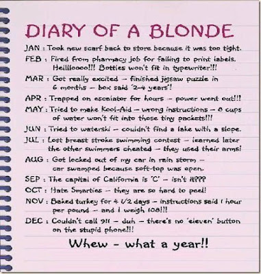 Diary of a blonde