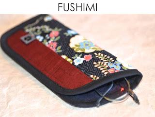 Brillenetui Fushimi aus japanischen Stoffen von Noriko handmade, handgemacht, Einzelstück, Unikat, Design, Hülle