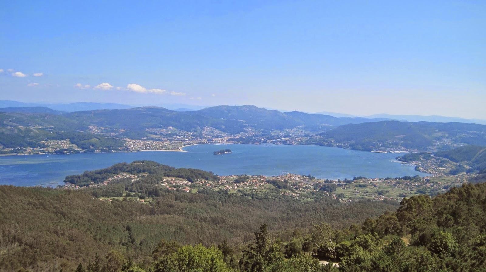 Ría de Vigo desde el mirador de Cotorredondo