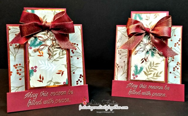 Fun fold, Joyous Noel, Christmas Card, center step fold, stampin up