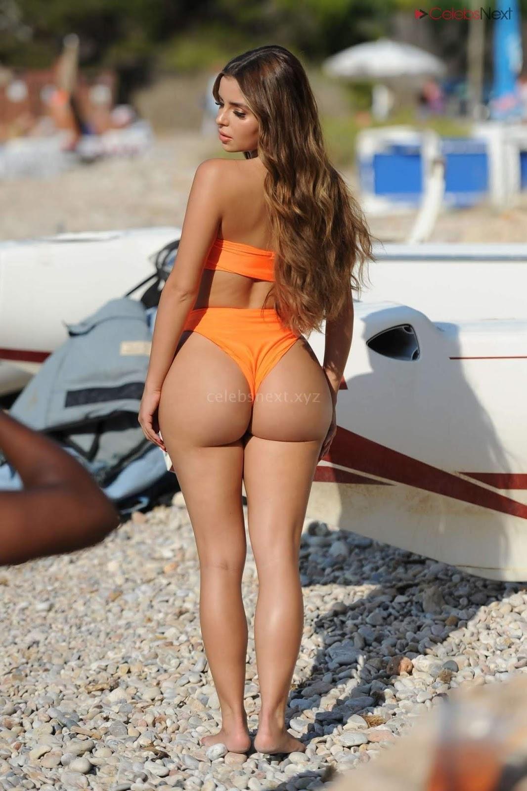 Tight petite young latina butt in thong panties