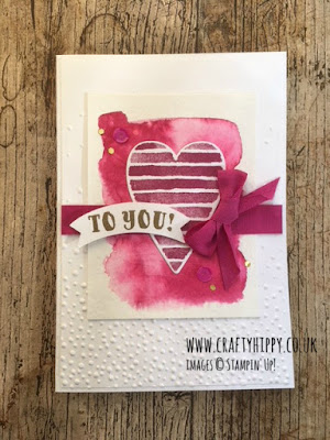Try the Heart Happiness Stamp Set from Stampin' Up! and make beautiful heart cards