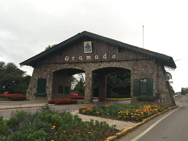 Portão de entrada da cidade, Gramado.