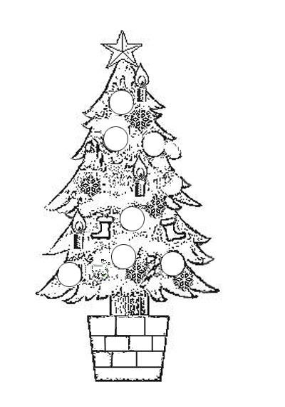 Disegni di alberi di Natale da colorare