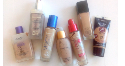 BEAUTY // A Year's Worth Of Empty Foundation!