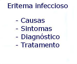 Eritema infeccioso causas sintomas diagnóstico tratamento prevenção riscos complicações