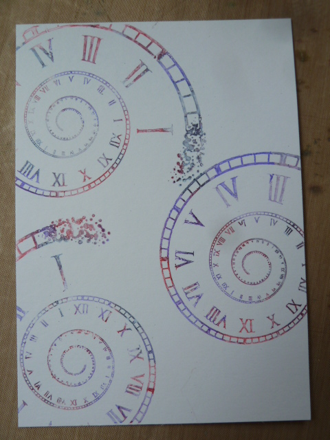 time spiral stamp