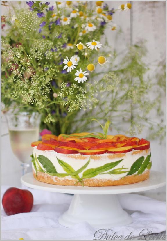 Broskyňová Prosecco torta