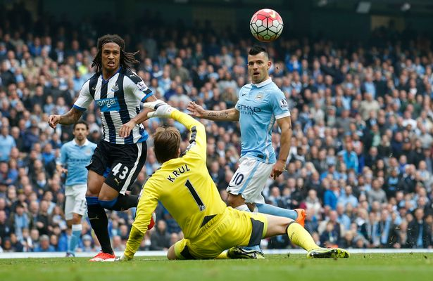aguero buteur contre newcastle