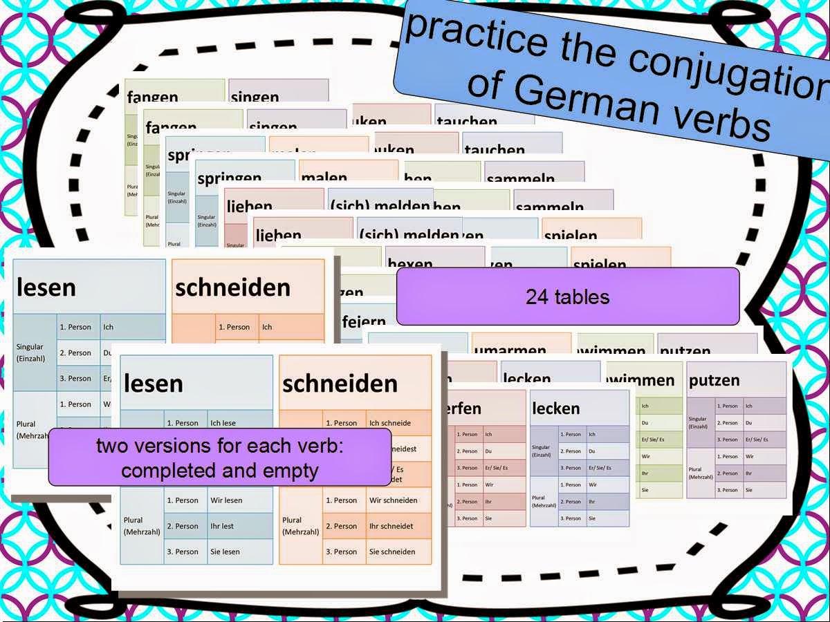 learn german with fun hilf deinen kindern beim konjugieren von deutschen verben. Black Bedroom Furniture Sets. Home Design Ideas
