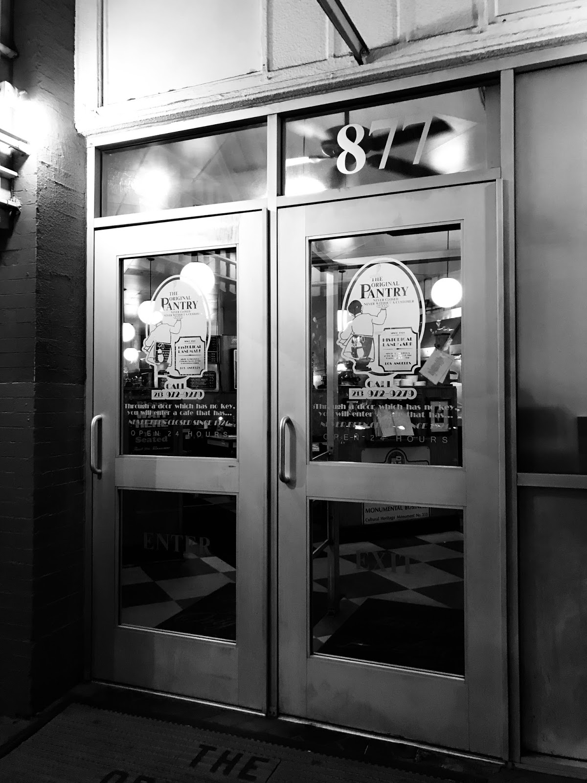 We Made The Drive From Vegas To L.A. In Time For Dinner. It Was A  Coincidence That Original Pantry Cafe (877 S Figueroa St, Los Angeles, CA  90017, ...