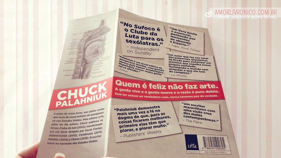 no sufoco, livros chuck palahniuk, livros editora leya, choke chuck palahniuk, palahniuk books
