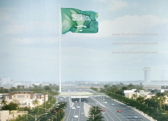 World's Talles Flag Pole in Jeddah Saudi Arabia