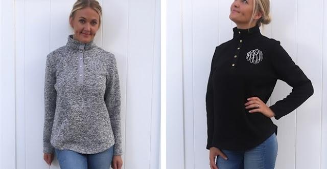 monogrammed pullover