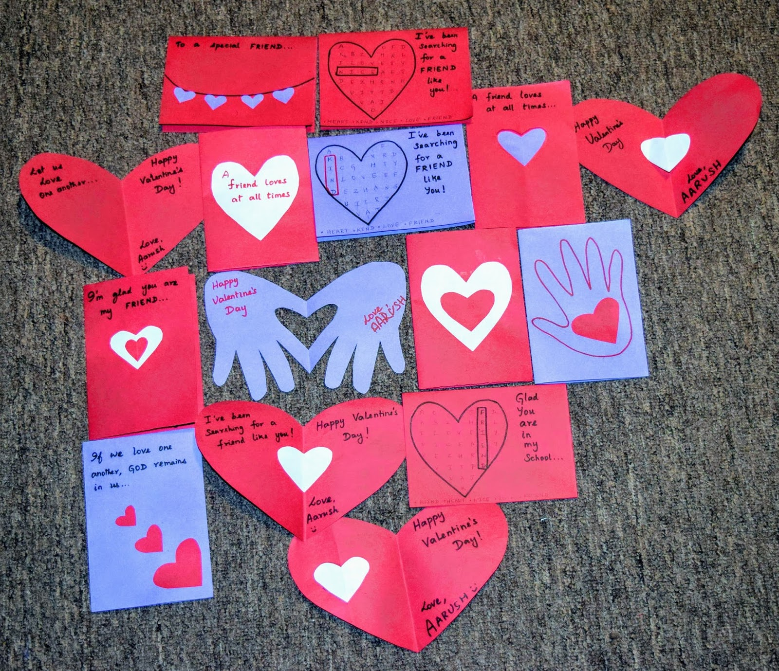 Sindhu S Cocoon Valentine S Day Diy Exchange Cards For Kids