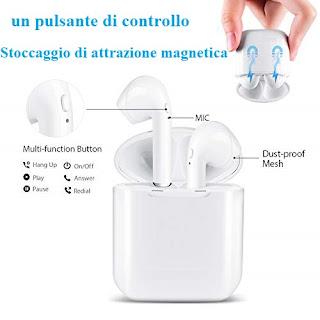 i8 mini tws bluetooth 5.0 cuffie auricolare bluetooth