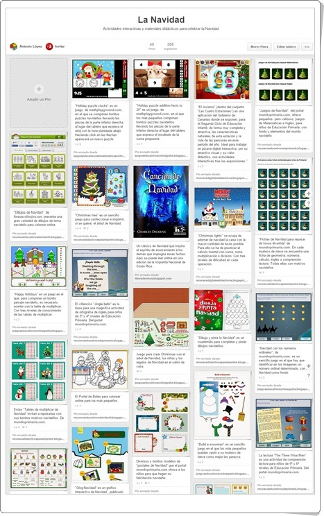 """Conjunto de juegos y actividades sobre """"La Navidad"""""""