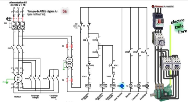 how to wire a star delta motor with diagram