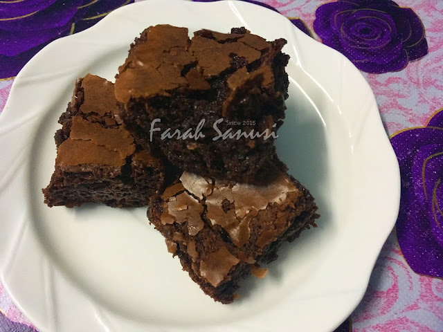 Resepi Fudgy Brownies Kedut
