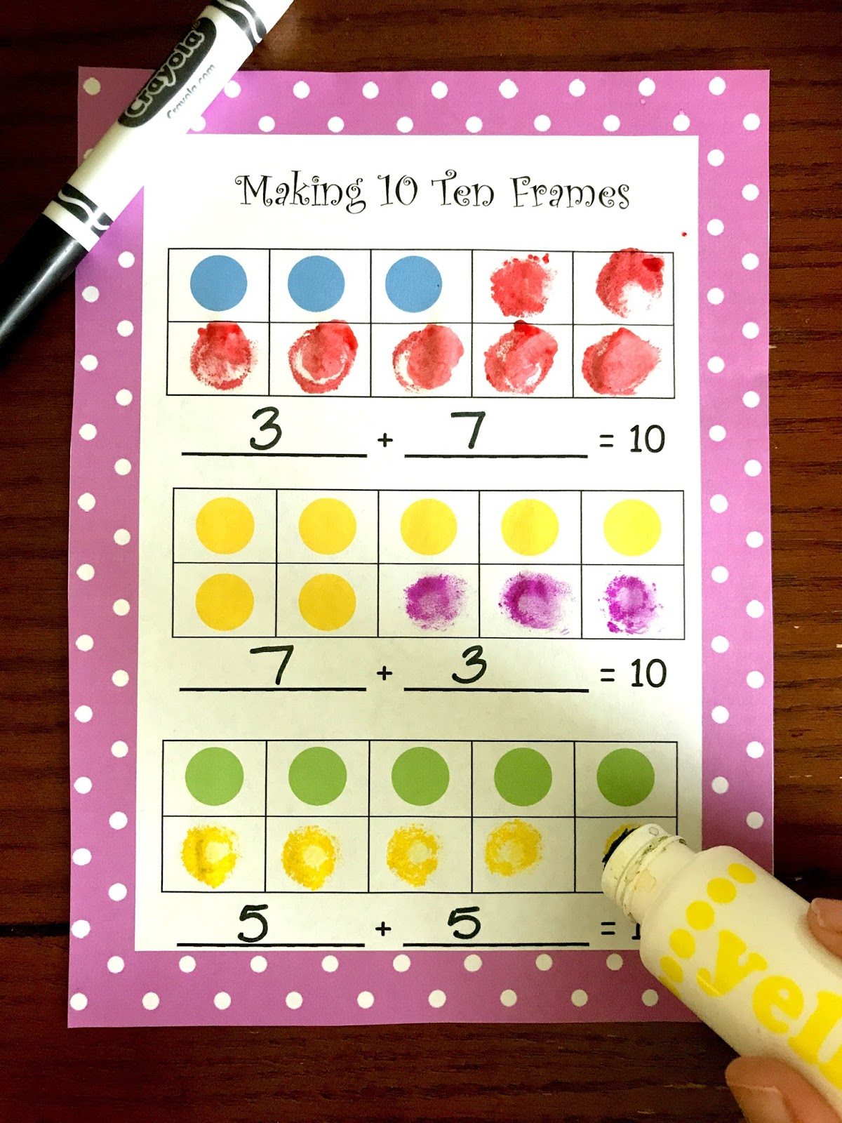 Free Making 10 Ten Frames