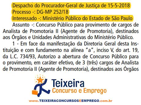 Concurso Ministério Público-SP Analista edital MP-SP