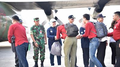 Pesawat Hercules Angkut 198 Insinyur Kementerian PUPR ke Lombok
