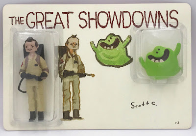 The Great Showdowns Ghostbusters Resin Figure Set Version 2 by Scott C. x DKE Toys