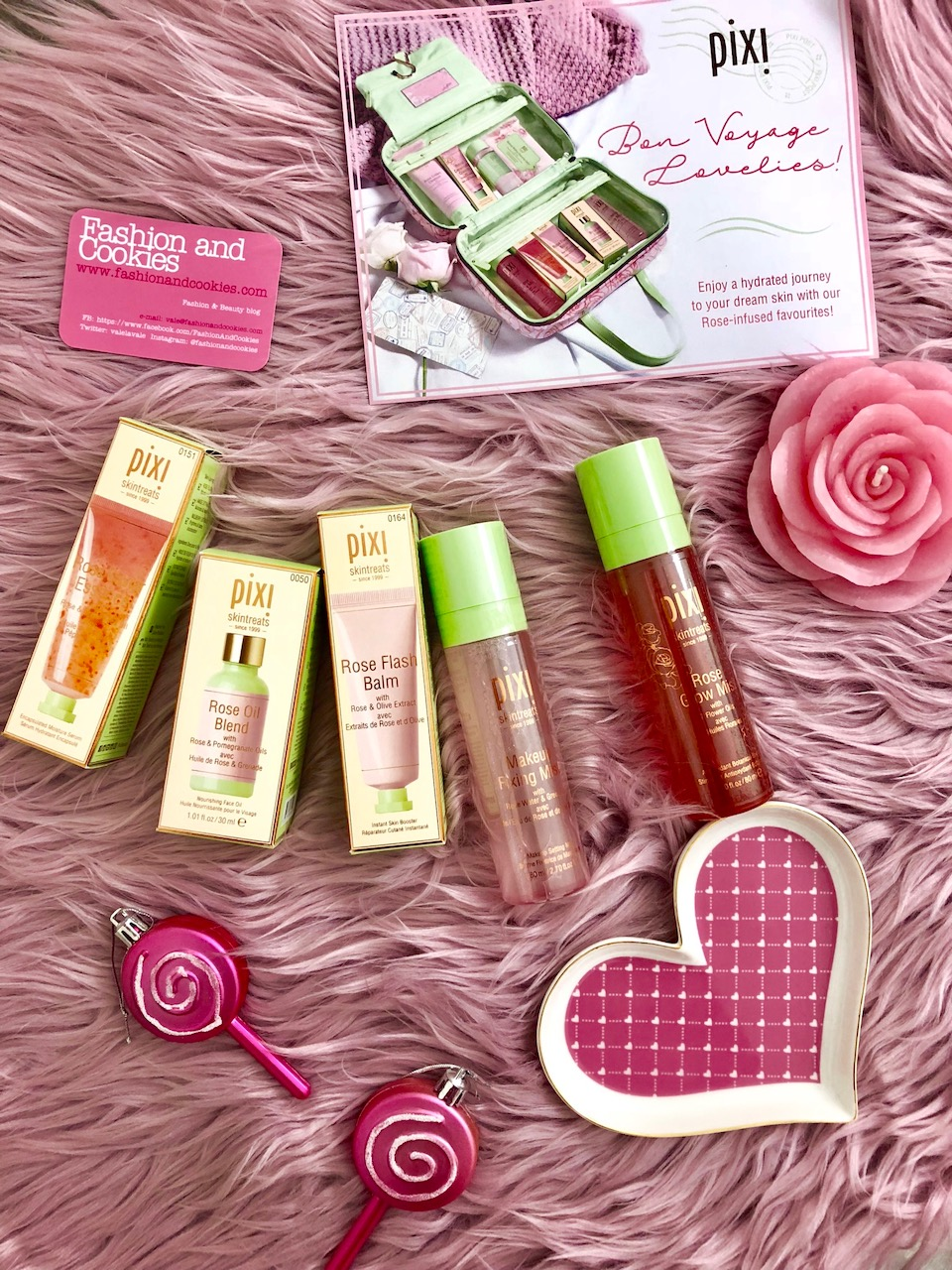 Pixi Beauty Ultra Luxe Rose-Infused Skintreats Set review on Fashion and Cookies beauty blog