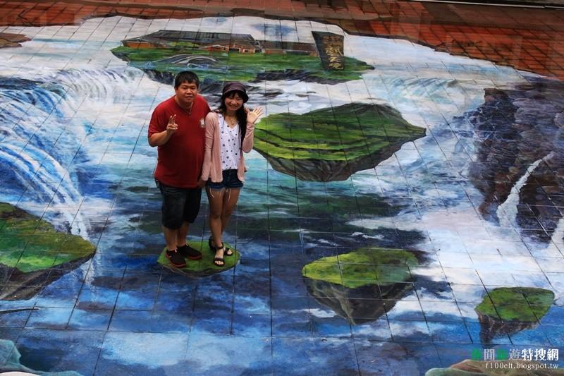 [臺灣.臺中] 台中港區藝術中心也有美麗的3D立體彩繪