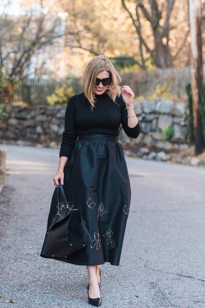 full beaded midi skirt