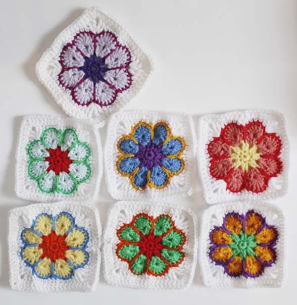 Blumenbunt Granny Squares