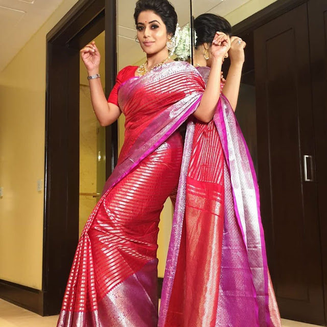 Actress Poorna New Saree Photoshoot Pics