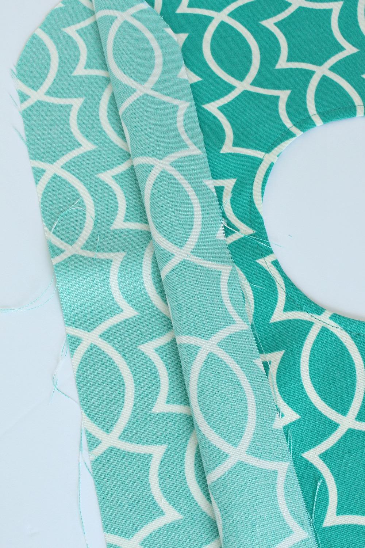 Outdoor fabric clothespin bag