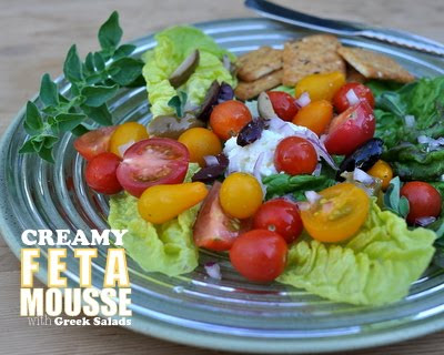 Creamy Feta Mousse with Greek Salads