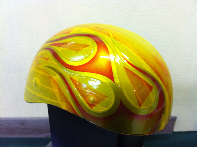 222408207 - カスタムペイント工程  ダックテールヘルメット 奈良フレイムス