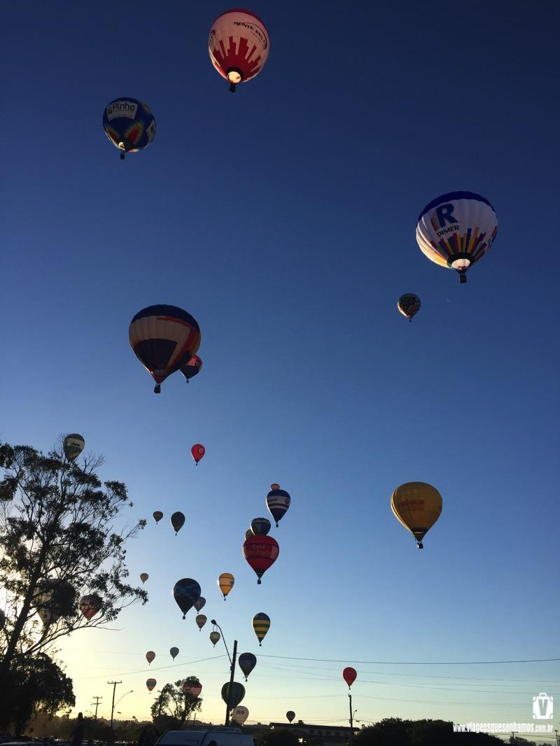 Voando de balão no RS