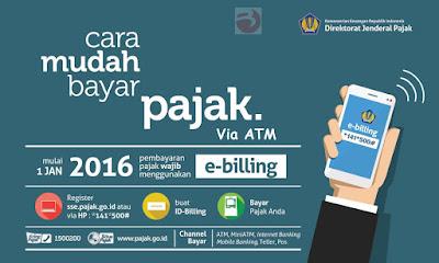 Cara Bayar Tagihan E-Billing Pajak Online Via ATM