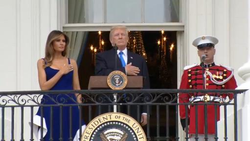 Donald Trump celebró su primer 4 de julio al mando de la Casa Blanca