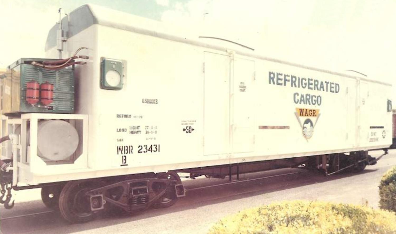 West Australian S Scale Modelling: WBR Fibreglass Reefer Van
