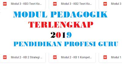 Modul Pedagogik Terlengkap 2019