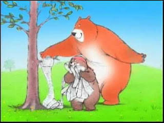 horrible charmin bears with a tree