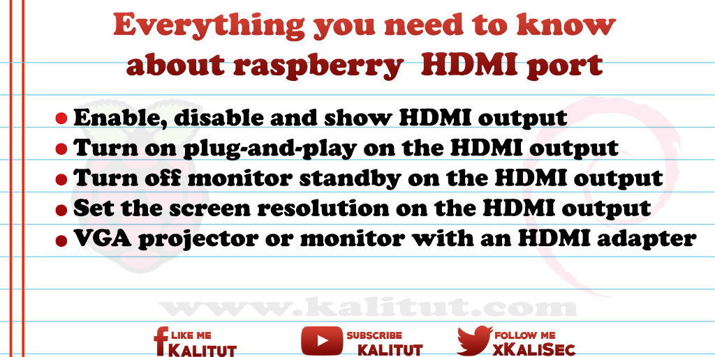 Raspberry Pi HDMI port - KaliTut