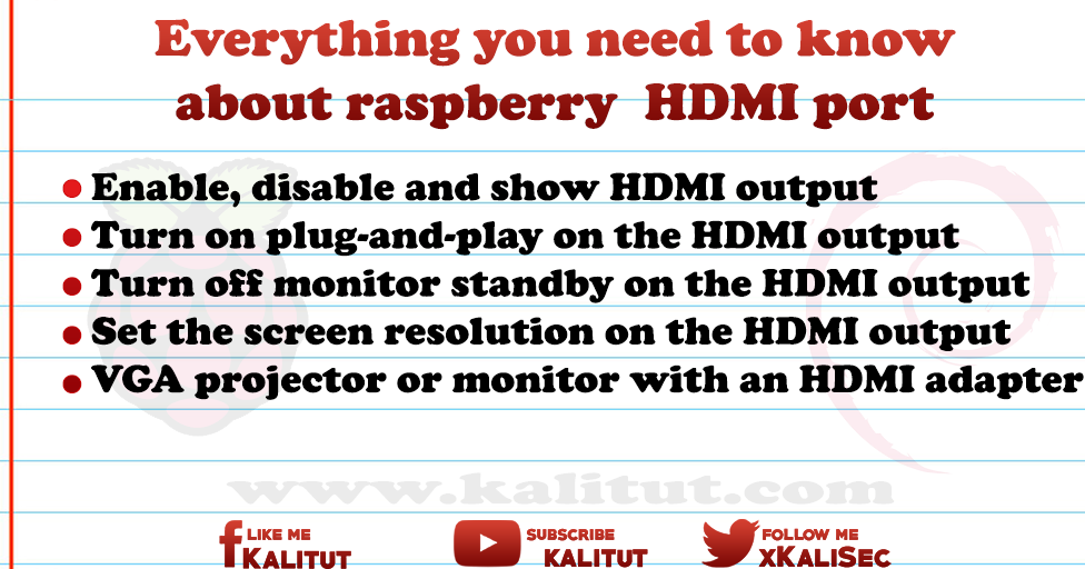 Raspberry Pi HDMI port - KaliTut
