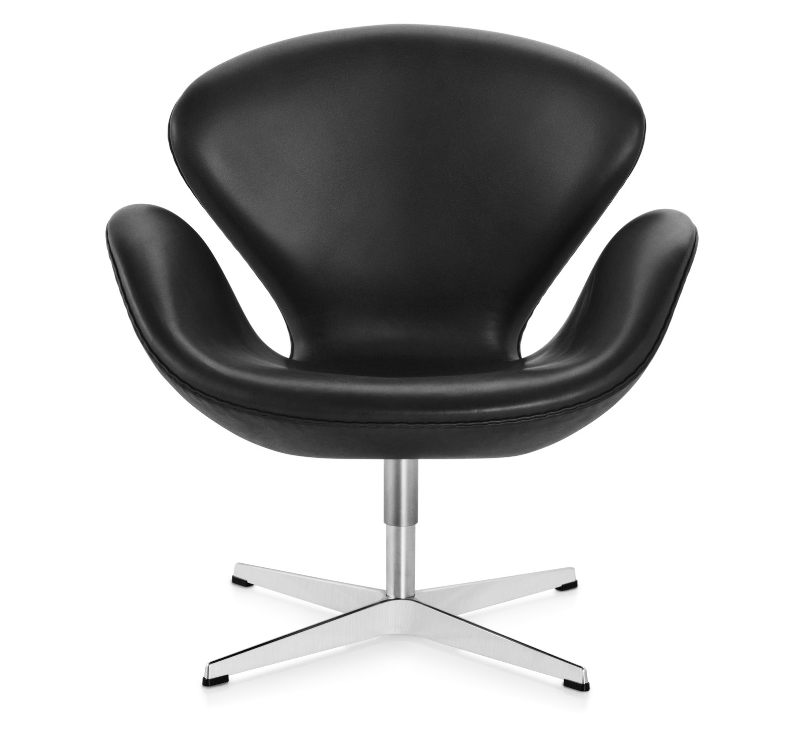 Arne Jacobsen Swan Chair Swan™ Chair, Black / Leather / Arne Jacobsen