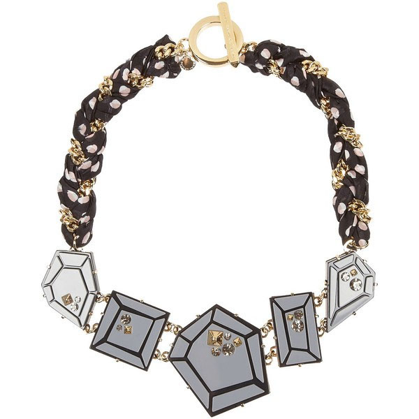 Marc by Marc Jacobs Giant Gems printed silk and crystal necklace