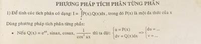 Giải tích phân bằng phương pháp tích phân từng phần