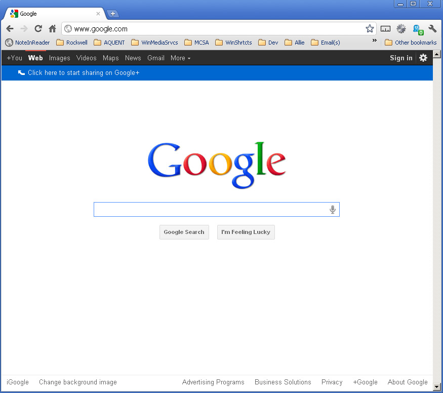 Welp CyaLater: New Google Home Page